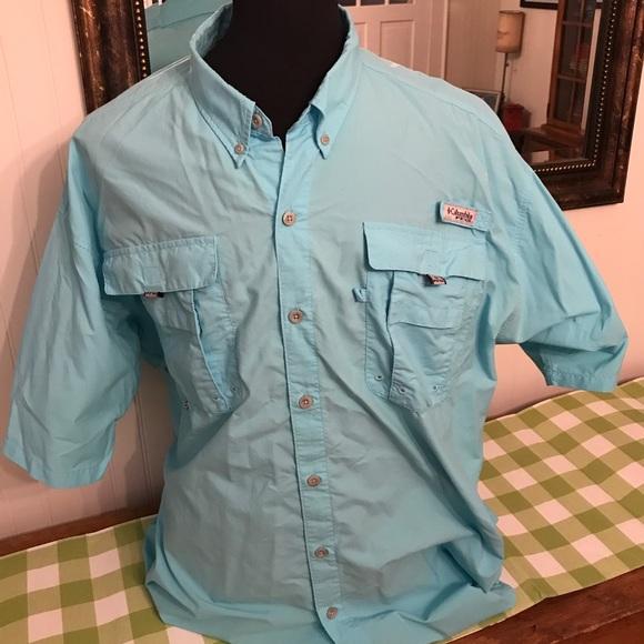 b4c6bd7d093 Columbia Shirts | Pfg Blue Ss Fishing Shirt 2xlt Mens Tall | Poshmark
